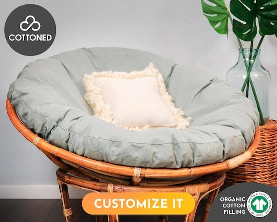 Papasan Chair Cushion With Organic Gots, Mamasan Chair Cushion