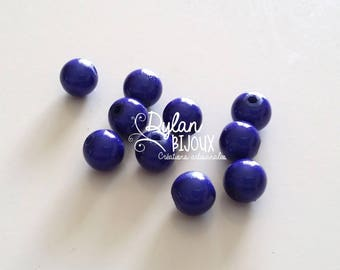 10 pearls magic or miracles Navy Blue 8 mm