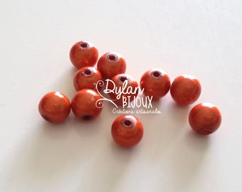 10 pearls magic or miracle Orange 8 mm