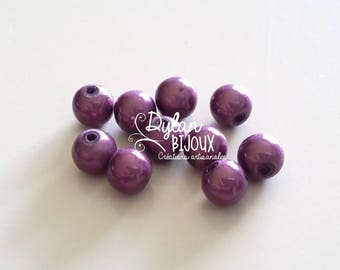10 pearls magic or miracle purple amethyst 8 mm