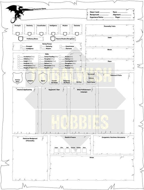 photo relating to Printable Dungeons and Dragons Character Sheet identified as Dungeons Dragons Individuality Sheet, Printable Electronic Obtain, DnD, Part Participating in, Temperament Layout, Dungeons and Dragons, Creativity