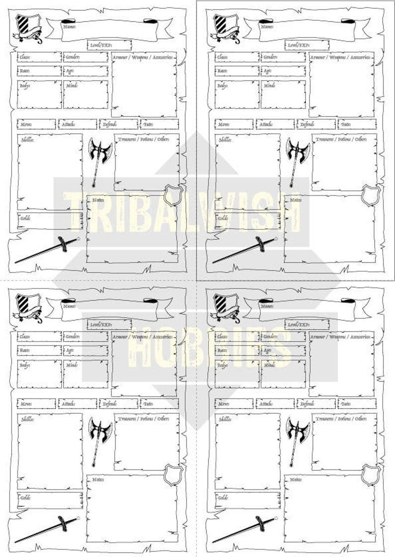 picture about Printable Character Sheet titled Heroquest Personality Sheet, Printable Electronic Obtain, Dungeon, Boardgaming, Heroquest, Identity Structure, Dungeons and Dragons, Warhammer
