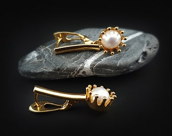 24k Gold Plated Sterling Silver Earrings With Freshwater Pearls