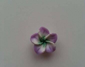 fleur en pate polymere mauve 20mm 9c04f368d3f