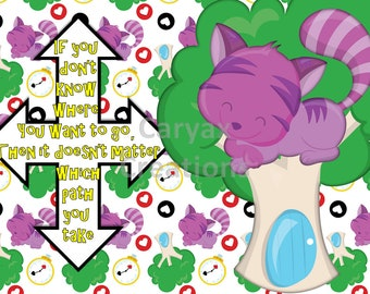 ALICE Cheshire Cat Direction digital image