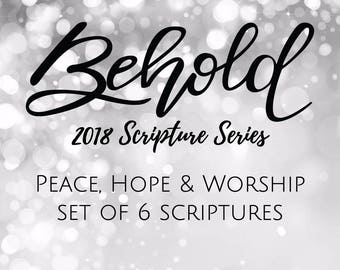 BEHOLD Scriptures {Advent 2017}