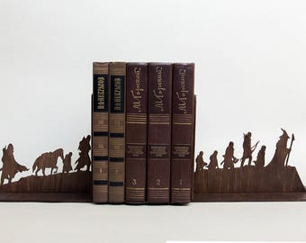 The Lord of the Rings bookends, The Hobbit house decor, book ends, Hobbit bookmark sign, home decor. Book lover gift. Gift for men