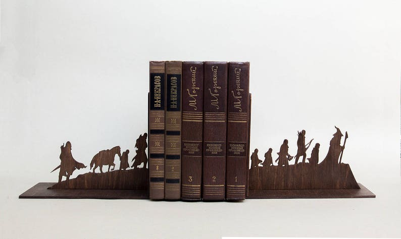 The Lord of the Rings bookends The Hobbit house decor book image 0