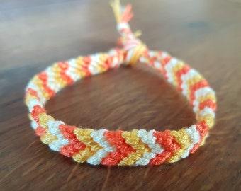 Friendship bracelet - Orange/yellow