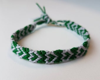 Friendship bracelet - Green/grey
