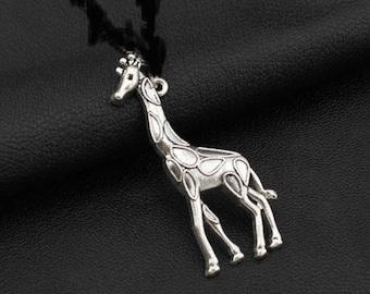 1 shape in antique silver giraffe charm/pendant