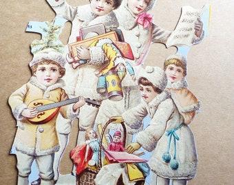 1 big children chromos late century winter theme (model 7)