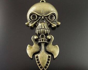 Pendant Gothic metal skull