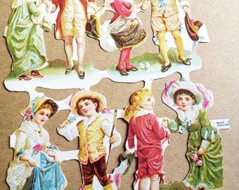 8 chromos children late century paste (6 model)