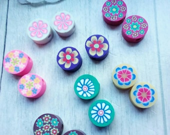 polymer flower beads 14 large