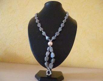 Kind, labradorite, Moonstone, freshwater pearls