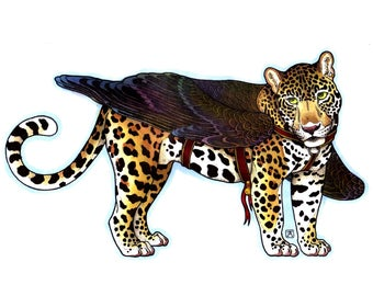 A5 Winged Jaguar Print