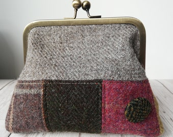 Tweed Clasp Purse
