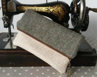 Harris Tweed Clutch Bag