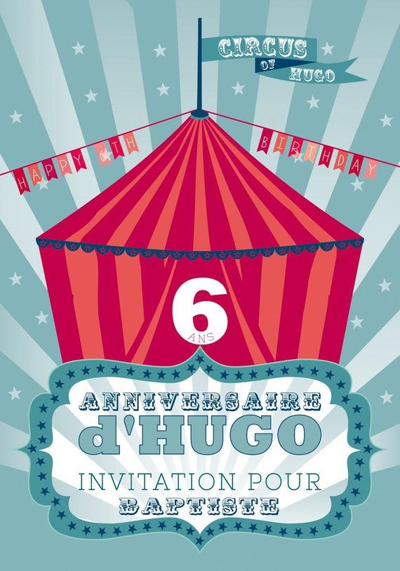 Tarjeta De Invitación Para Un Cumpleaños De Circo