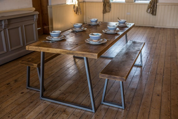 Awesome Industrial Style Dining Table And Benches Pdpeps Interior Chair Design Pdpepsorg