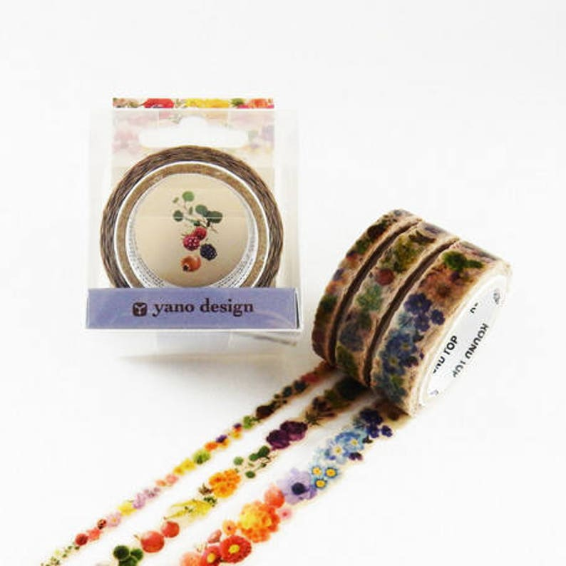 You choose decorative tape Round Top Masking Tape Flower Line Yano Design Flower Washi Tape gift wrapping