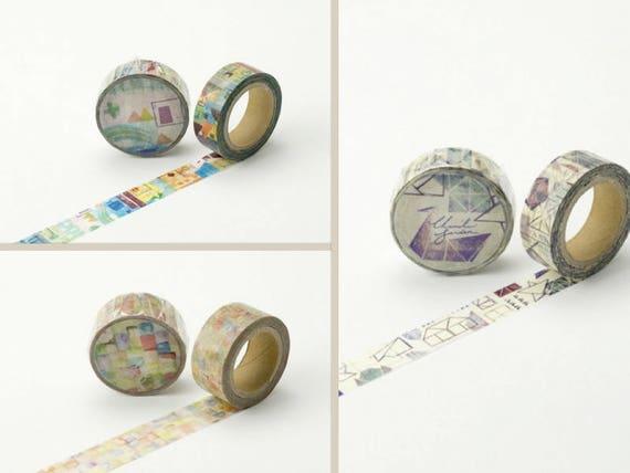 decorative tape Safflower Green Chamil Garden Washi Tape
