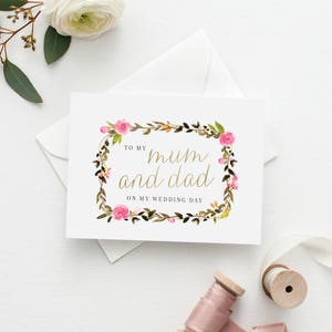 Floral Thank You Card To My Grandparents Wedding Card Grandma and Grandad Thank You Card Printable 5x7 To my Grandparents Card