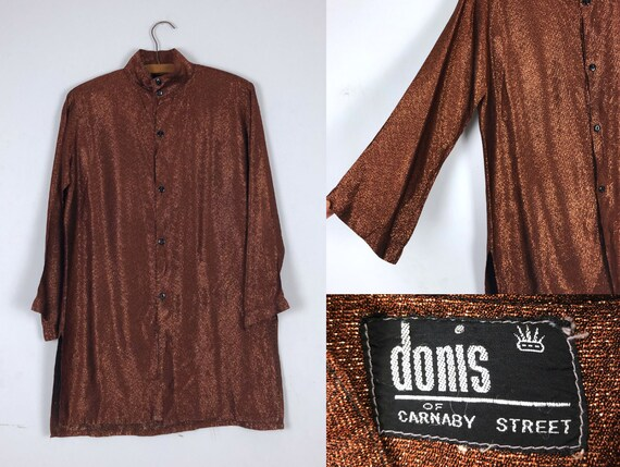 1960s Vintage Bronze Sparkly Tunic by Donis of Car