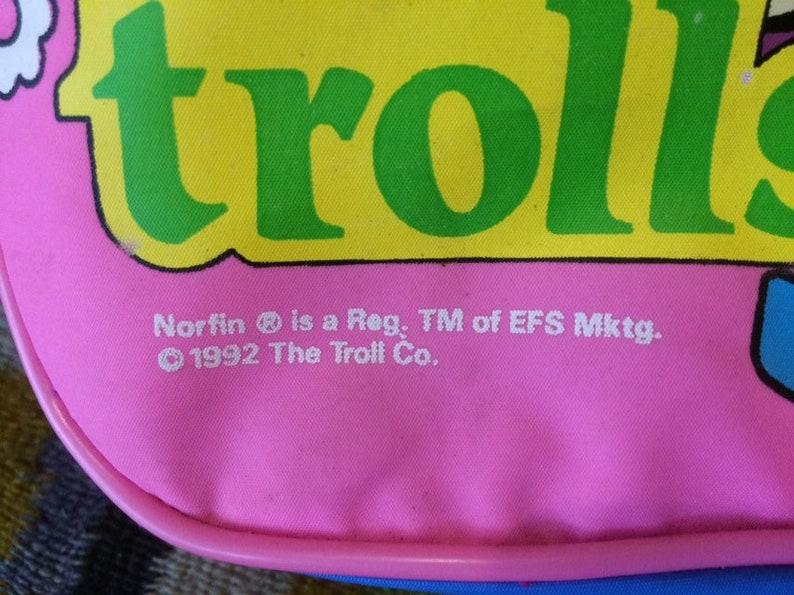 Detatchable Strap Pink Purple /& Blue 1990s Vintage Norfin Troll Bag