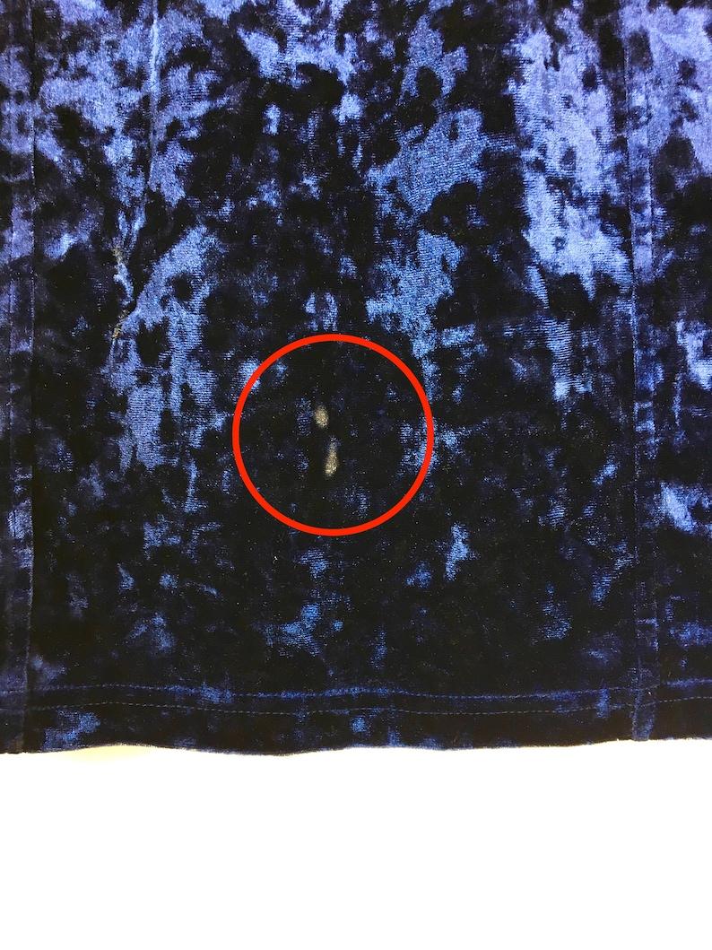 90s Midnight Blue Velvet Skirt