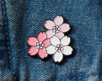 Sakura Cherry Blossom Enamel Pin – Cherry Blossoms –Flowers – Valentine's Lapel Pin – Japanese
