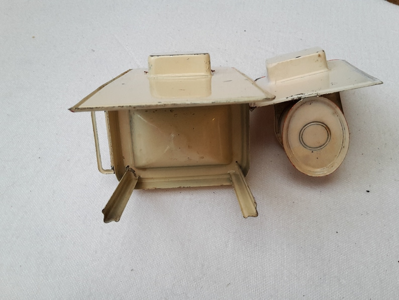 old tin toys for vintage doll house 20/'s miniature bathroom for doll house set with toilet and washbasin