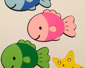 Fish with Star Fish Paper Die Cuts