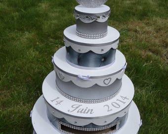 Urne / boîte à enveloppes wedding cake sur-mesure