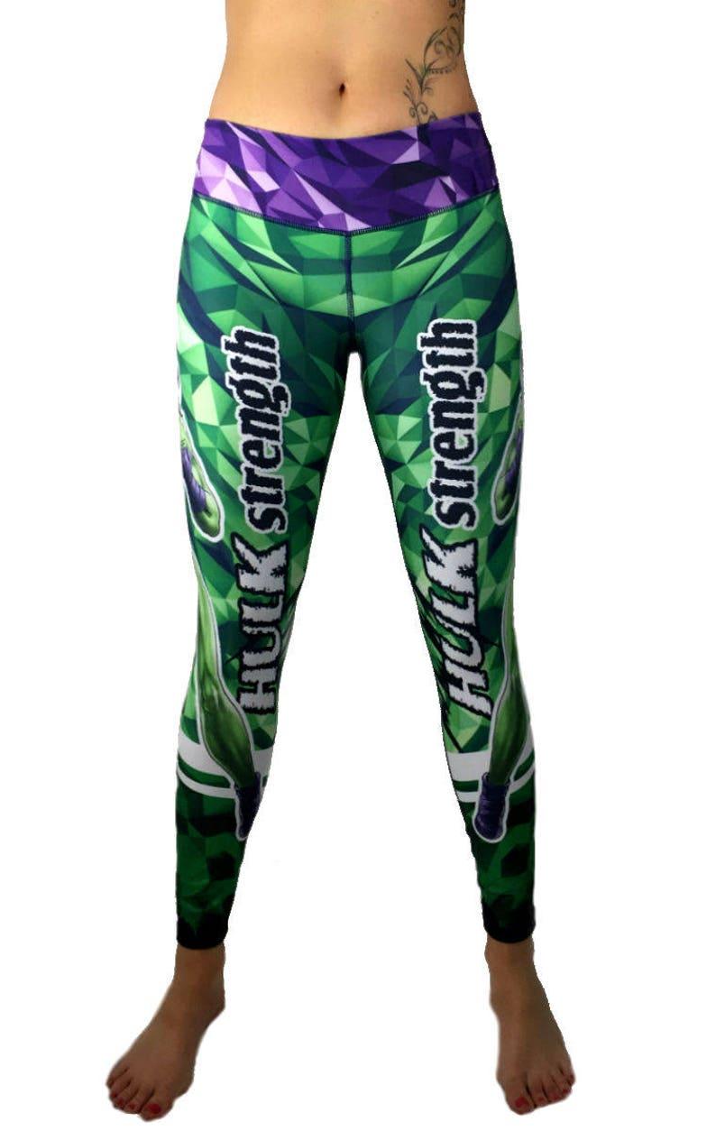 8e15161b6796df She Hulk Superhero Leggings High Waist Womens Yoga Workout