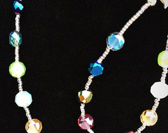 Rainbow Crystal Jewelry Set