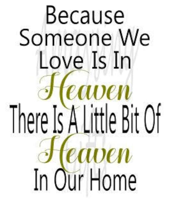Svg Because Someone We Love Is In Heaven Heaven Ornament Etsy