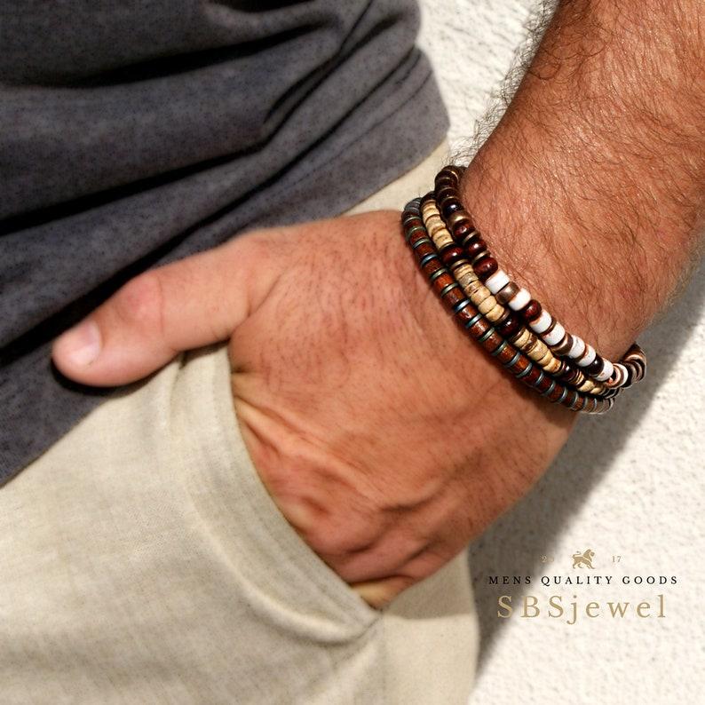 817dab67c610 WOODEN BEAD BRACELET Wooden Bracelets Mens Wooden Bracelet