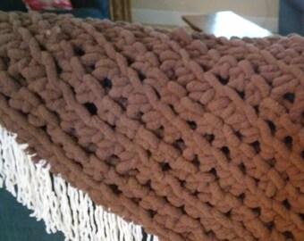 Bulky Yarn Lap Blanket