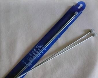 Aluminium Knitting Needles - 2.00mm / 2.25mm / 2.50mm