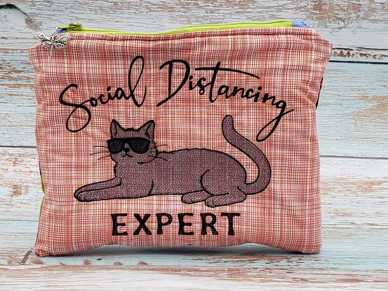 Zipper bag zipper pouch zippered bag pencil pouch travel pouch makeup bag travel bag embroidered bag personalized bag notions pouch