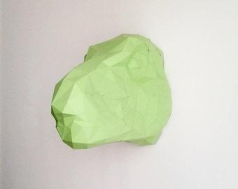 Trophy head Tyrannosaurus geometric paper