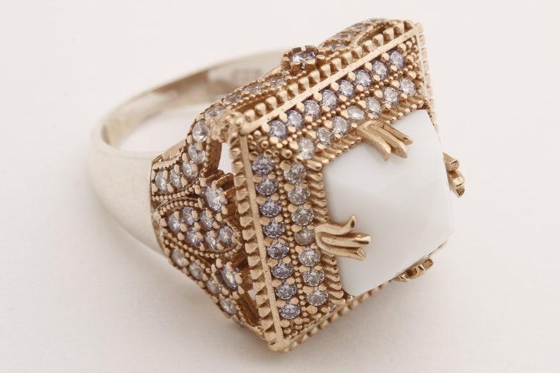 Hurrem Design Turkish Handmade Jewelry Square Shape White image 0