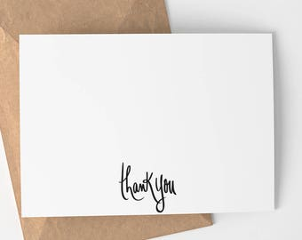 Simple greeting card etsy thank you card all occasions thank you card simple thanks thank you greeting card minimalist m4hsunfo