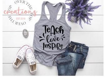 Teach, Love, Inspire Tank top
