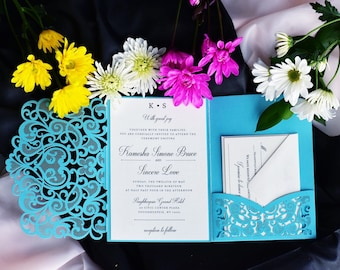 Tiffany Blue Wedding Invitations Etsy