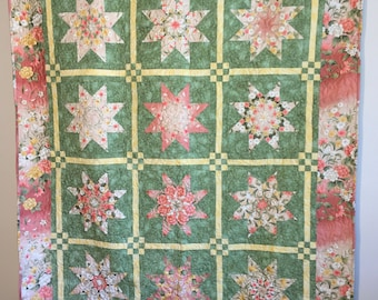oriental floral stack and whack quilt