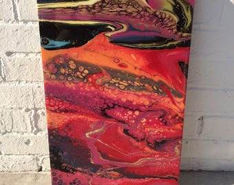 "12""x18""-Resin Painting on Wood Panel-6"