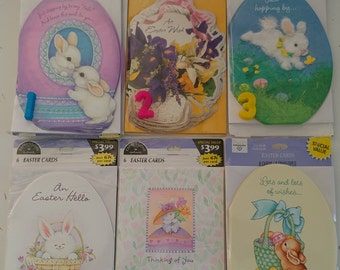Throwback 90s Vintage -ish Easter Greeting Cards